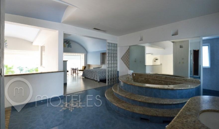Habitacion Alberca, Jacuzzi y Sauna del Motel Costa del Sol