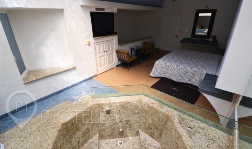 Habitacion Jacuzzi y Sauna del Motel Costa del Sol