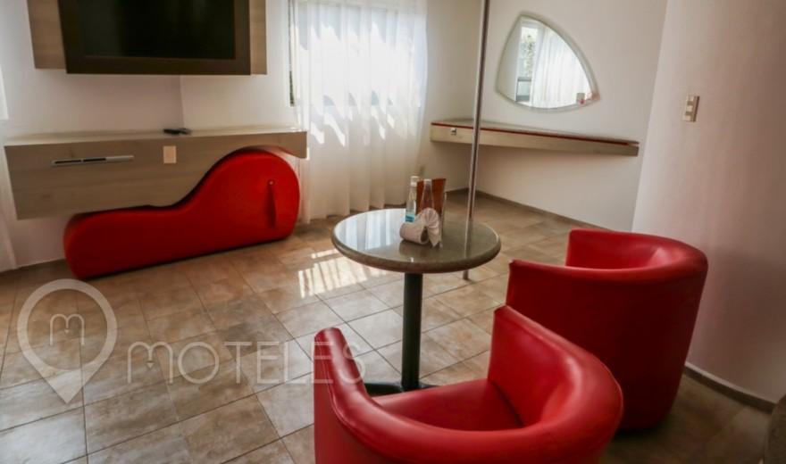 Habitacion Jacuzzi del Motel Jardines de Churubusco Hotel & Villas