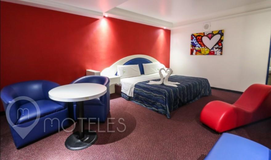 Habitacion Jr. Suite del Motel Jardines de Churubusco Hotel & Villas