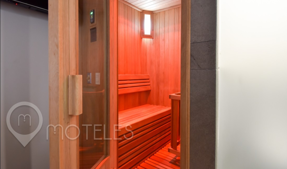 Habitacion Jacuzzi con Sauna  del Motel Motel Mink