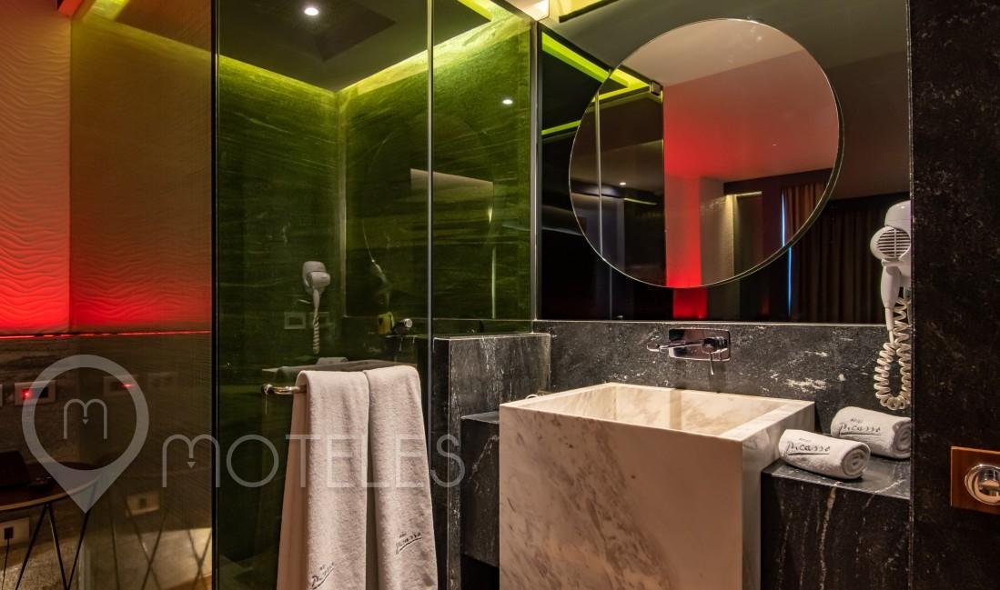 Habitacion Hotel Doble  del Motel Picasso Circuito