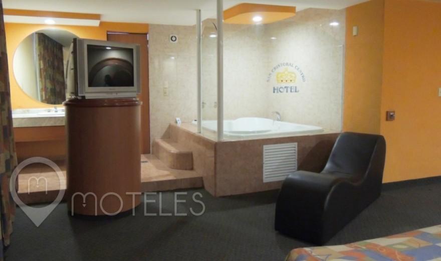 Habitacion Hotel Jacuzzi Especial del Motel San Cristóbal Centro