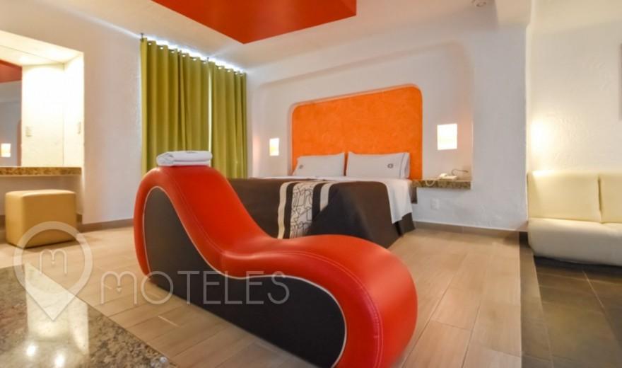Habitacion Jacuzzi del Motel Suites Las Fuentes
