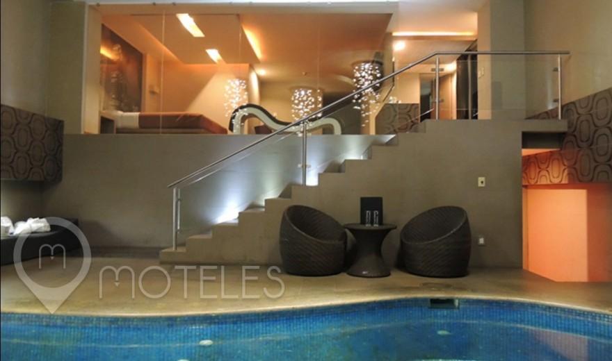 Habitacion Alberca del Motel Urban Hotel & Villas
