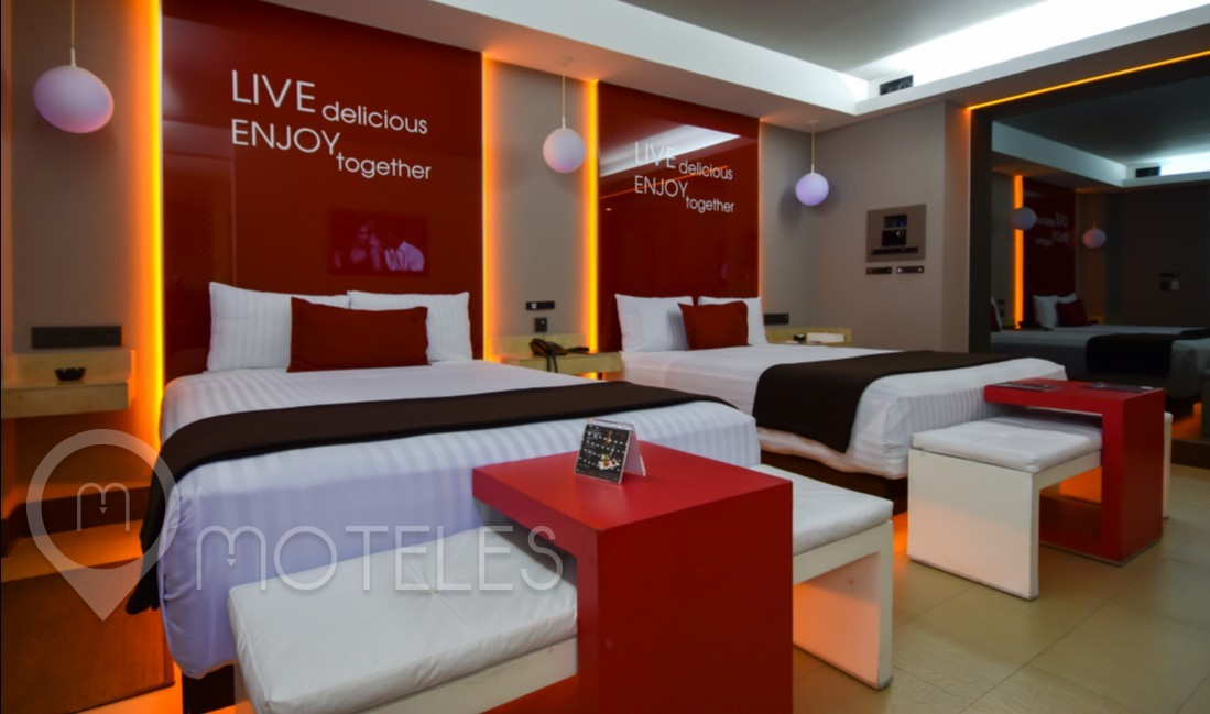 Habitacion Twin Suite del Motel V Motel Boutique Viaducto
